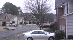 Winter Day Atlanta Suburban Snow - 2016 Stock Footage