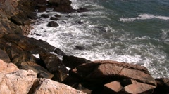 Rocky New England Coast Line Stock Footage