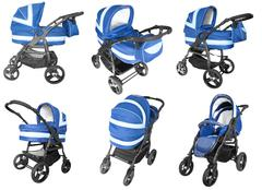 baby strollers isolated - stock photo