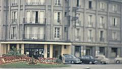 Lausanne 1950s: traffic in the street Stock Footage
