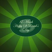 Saint Patrick's Day Typographical Background - stock illustration