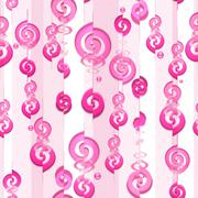 Pink dreams (seamless pattern) - stock illustration