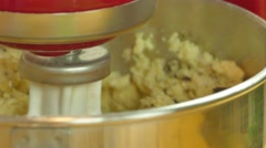 Making cookies with electric mixer appliance - stock footage