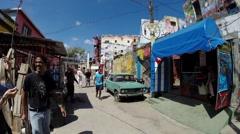 Timelapse GoPro Havana Cuba Habana Hamel Street the famous artist street Stock Footage
