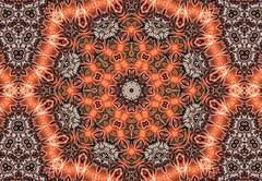 Aztec kaleidoscope abstract - stock illustration