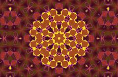 Aztec kaleidoscope abstract Stock Illustration
