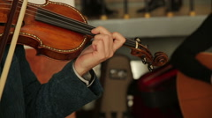 Violinist Man Play Violin - stock footage