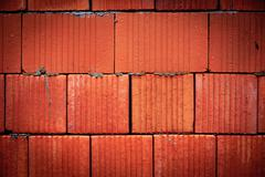 Stock Photo of red brickwork wall