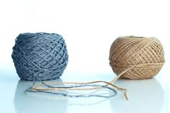 Two balls of twine - stock photo