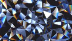Abstract crystal facet background animation Stock Footage
