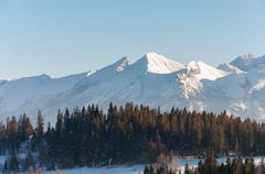 Winter landscape of Tatra Mountains Stock Photos