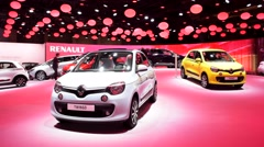Renault Twingo compact car Stock Footage