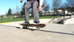 Skateboarder at Outdoor Park Stock Footage