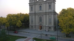 Flying over the orthodox church in Serbia. Stock Footage