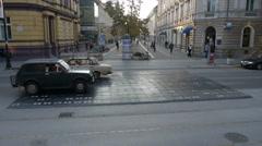 Subotica promenade Stock Footage
