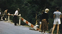 West Germany 1950s: traffic in a mountain street Stock Footage