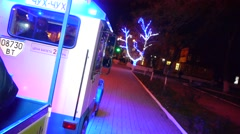The Polar Express, kids ride on toy train New Year express, train New Year, Stock Footage