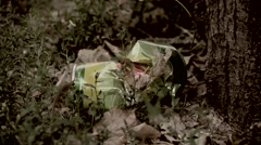 Trash on the grass, aluminum can lying on the grass, debris kills nature Stock Footage