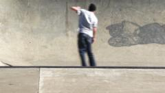 Skaterboarder in Bowl Stock Footage