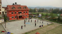 Kathmandu Nepal children practice traditional dance at childrens home, Eastern Stock Footage