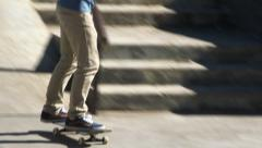 Skaters at the Park Stock Footage