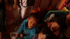 Kathmandu Nepal children sing in music room at childrens home in Eastern Arkistovideo