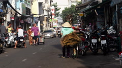 View of Busy Street in Central Ho Chi Minh City (Saigon), Vietnam Stock Footage