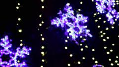 Twinkling Stars or Snowflakes - stock footage
