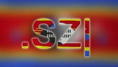 SZ - Internet Domain of Swaziland Stock Footage