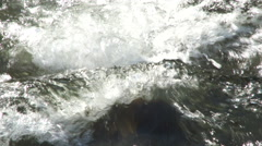 Water Rapids Close Up Slow Motion Stock Footage