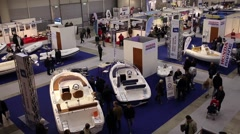 Boat Show Rome 2015 Stock Footage