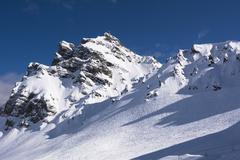 Monti Alti di Ornella, Arabba, Alto Agordino, Belluno District, Veneto, Italy - stock photo