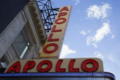 Apollo Theater Neon Sign, Harlem, New York City, New York, USA Stock Photos