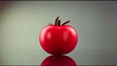 Tomato rotates Stock Footage