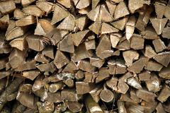 Firewood logs Stock Photos