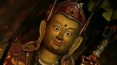 Himalayas Nepal Buddhist Guru Statue in Namche Monastery in Namche Bazarre in  Stock Footage