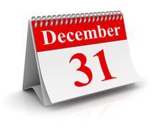 December 31 Stock Illustration