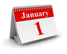 January 1 - stock illustration