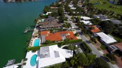 Aerial video of Miami Beach neighborhoods 4k Stock Footage