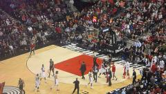 Spurs vs Trailblazers LaMarcus Aldridge Jump Shot Stock Footage