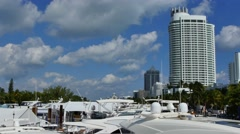 Miami Beach boat show 2 Stock Footage