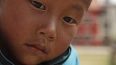 Kathmandu Nepal child poses at childrens home in Eastern Kathmandu, Nepal Stock Footage