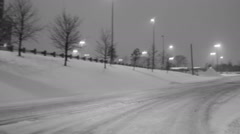 Driving in the city in winter - stock footage