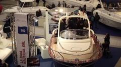 La Baia Nautical At Boat Show Roma Stock Footage