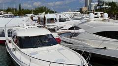 Miami Beach boat show 4k Stock Footage