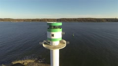 Aerial of Lighthouse Kiel Falkenstein Leuchtturm Stock Footage