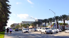 Stock Video Footage of Sunny Isles Beach Collins Avenue 4k