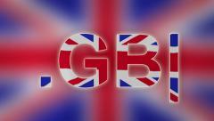 GB - Internet Domain of United Kingdom Stock Footage