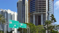 Sunny Isles construction sites 4k Stock Footage