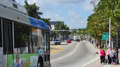Miami Beach 41st st - stock footage